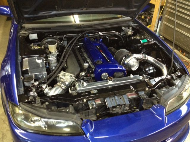 This S15 has an RB25 swap (with RB26 valve cover) | Car