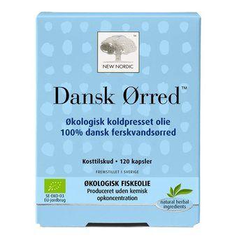 Dansk Ørred Fiskeolie 120 kapsler - Økologisk