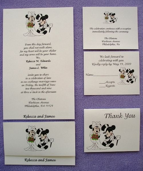 150 Personalized Custom Mickey And Minnie Disney Wedding
