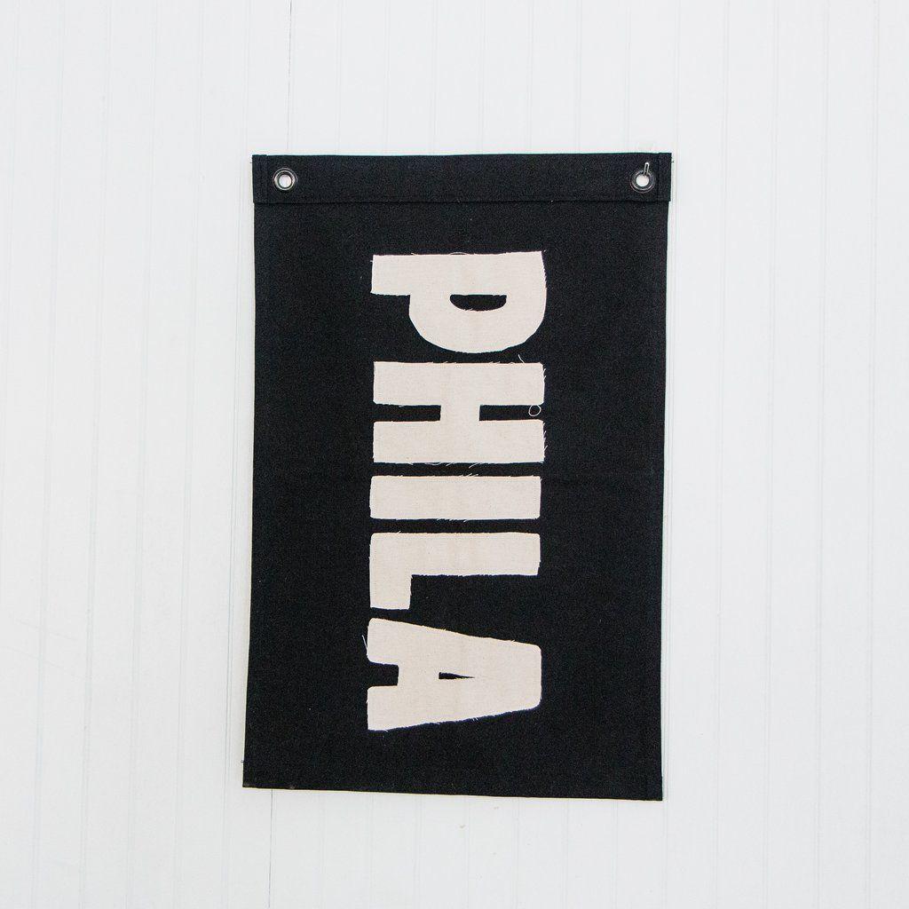 Phila Philadelphia Pa Handcrafted Custom Canvas Flags