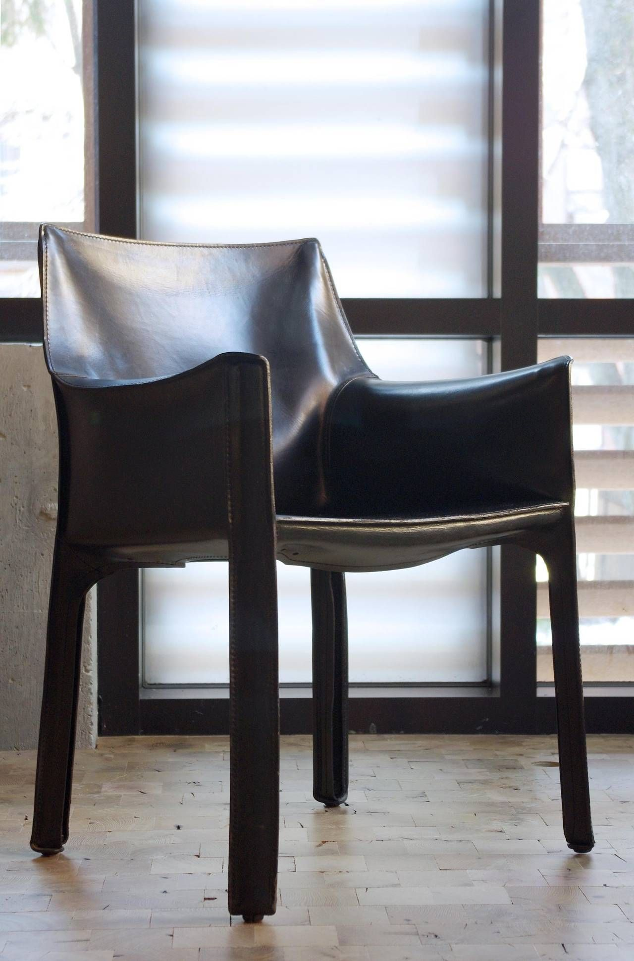 Wondrous Set Of Six 413 Cab Chairs By Mario Bellini For Cassina In Ocoug Best Dining Table And Chair Ideas Images Ocougorg