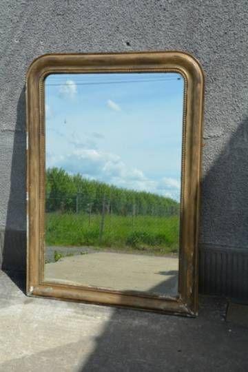 miroir de cheminee trumeau vintage