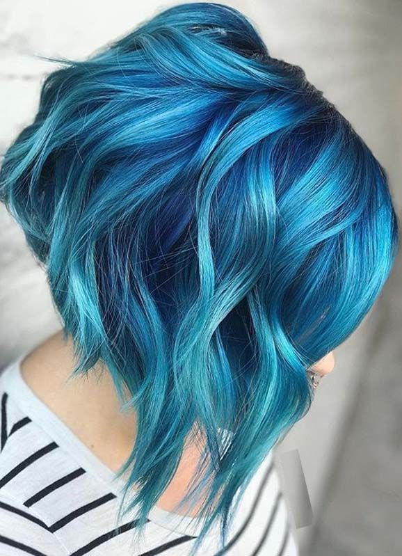 Photo of Beautiful Blue Color Melt for Bold Look in Year 2020