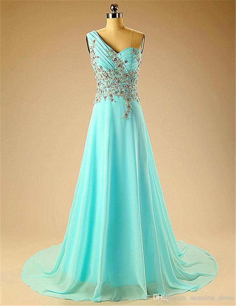 Cheap Elegant Real Image Evening Dresses Beading Ruched A Line ...