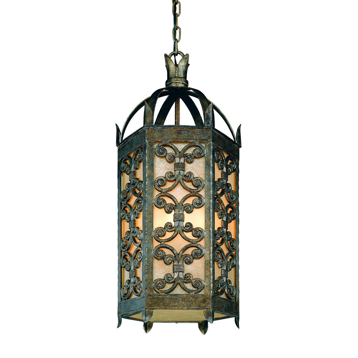 Troy Lighting F9908cg 4 Light Gables Large Pendent Outdoor Pendant Charred Gold