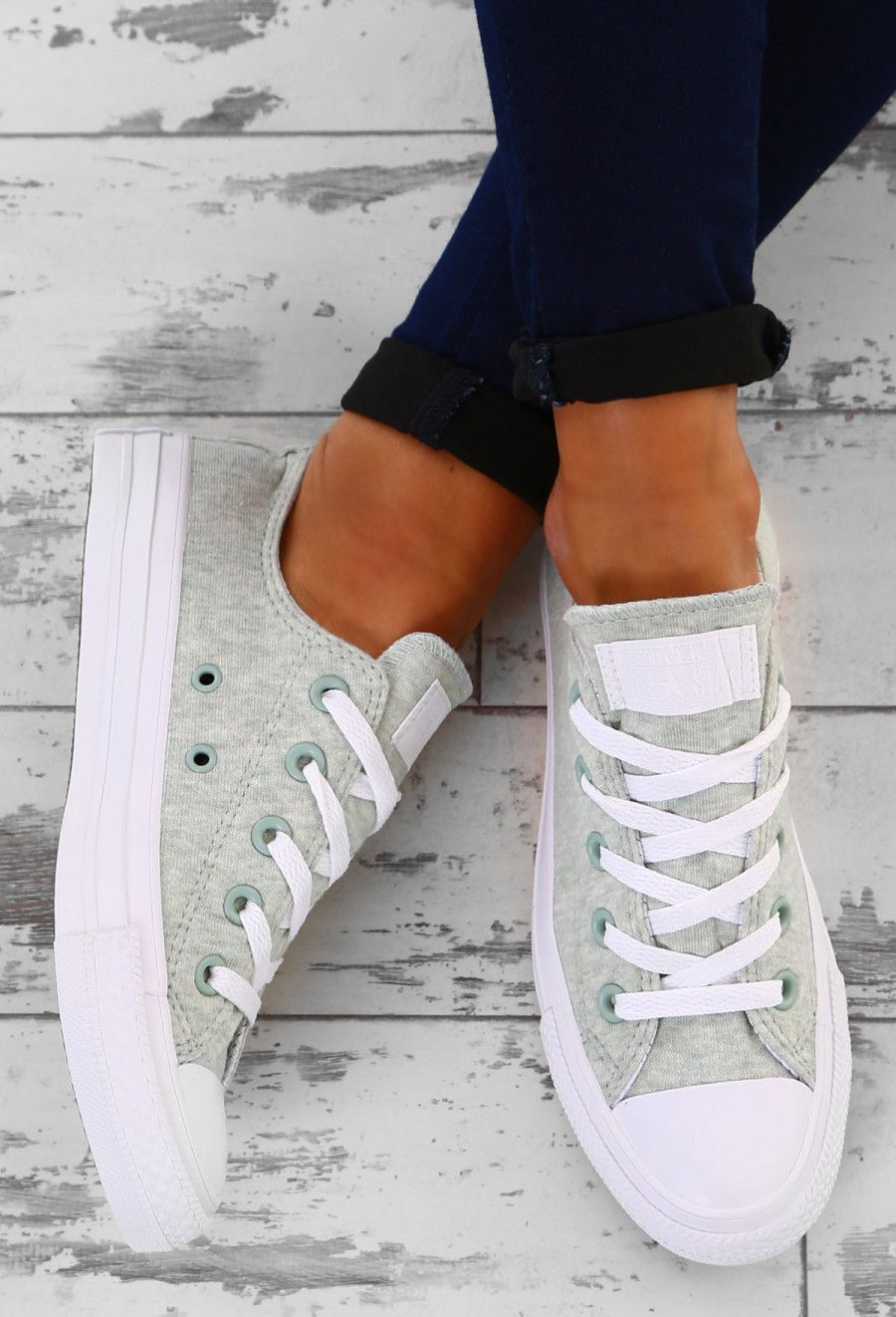 Chuck Taylor Converse All Star Mint Trainers | Pink Boutique