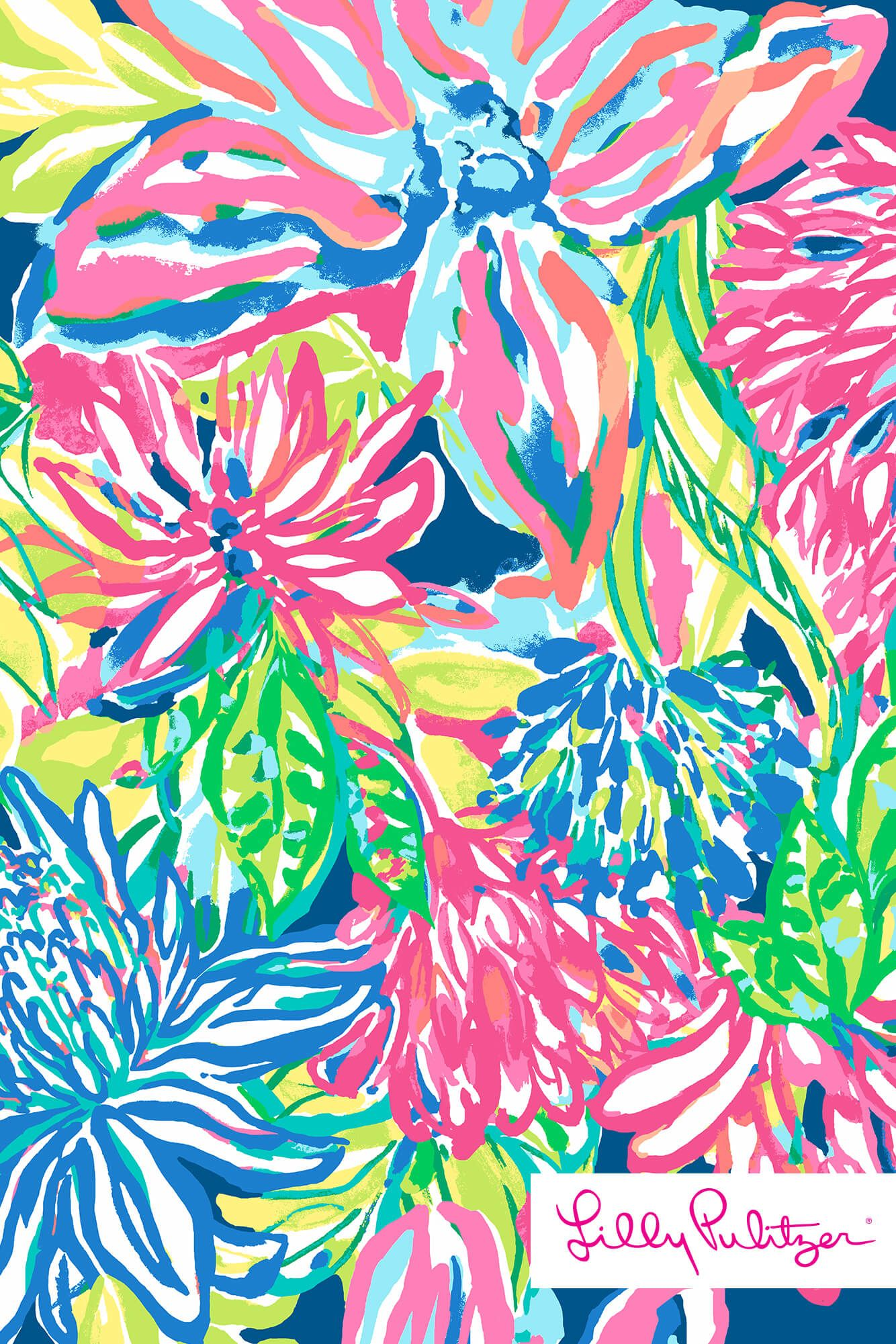 3e4792fd5992c1 Lilly Pulitzer - Travelers Palm | Wallpaper in 2019 | Lily pulitzer ...