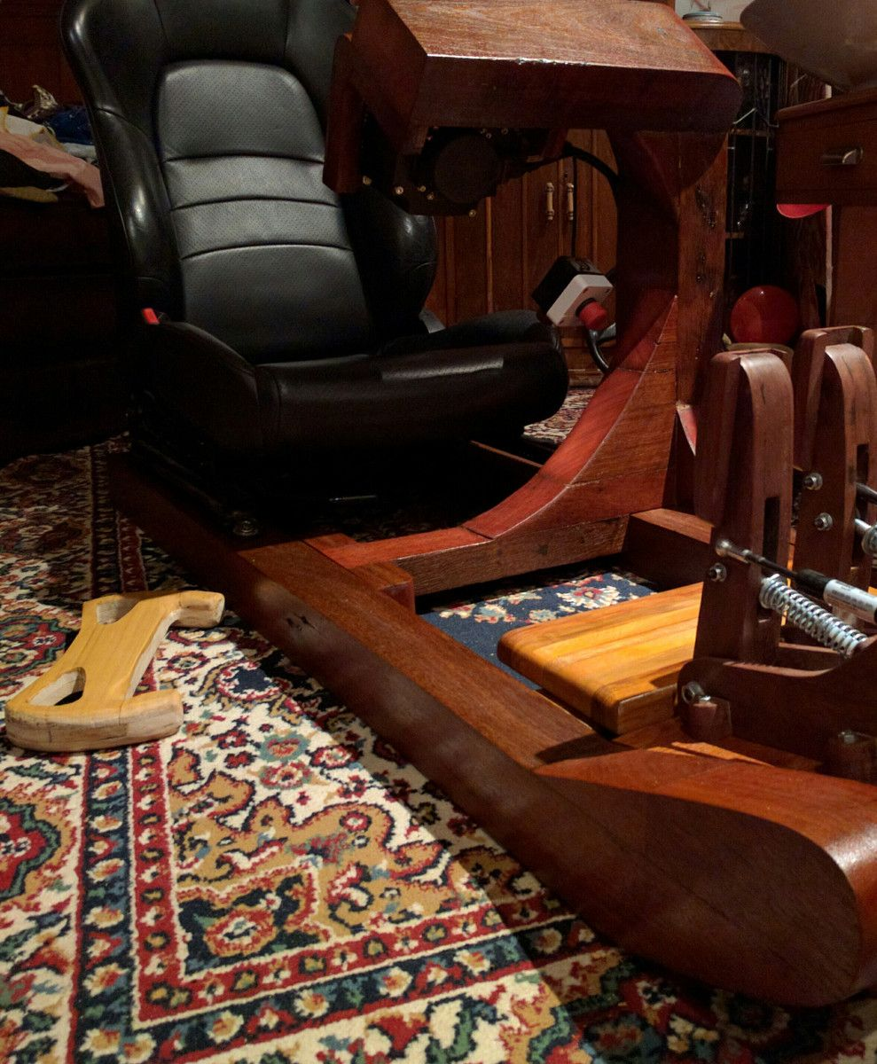 Simulator Racing Rig Created From Wood Http://ift.tt