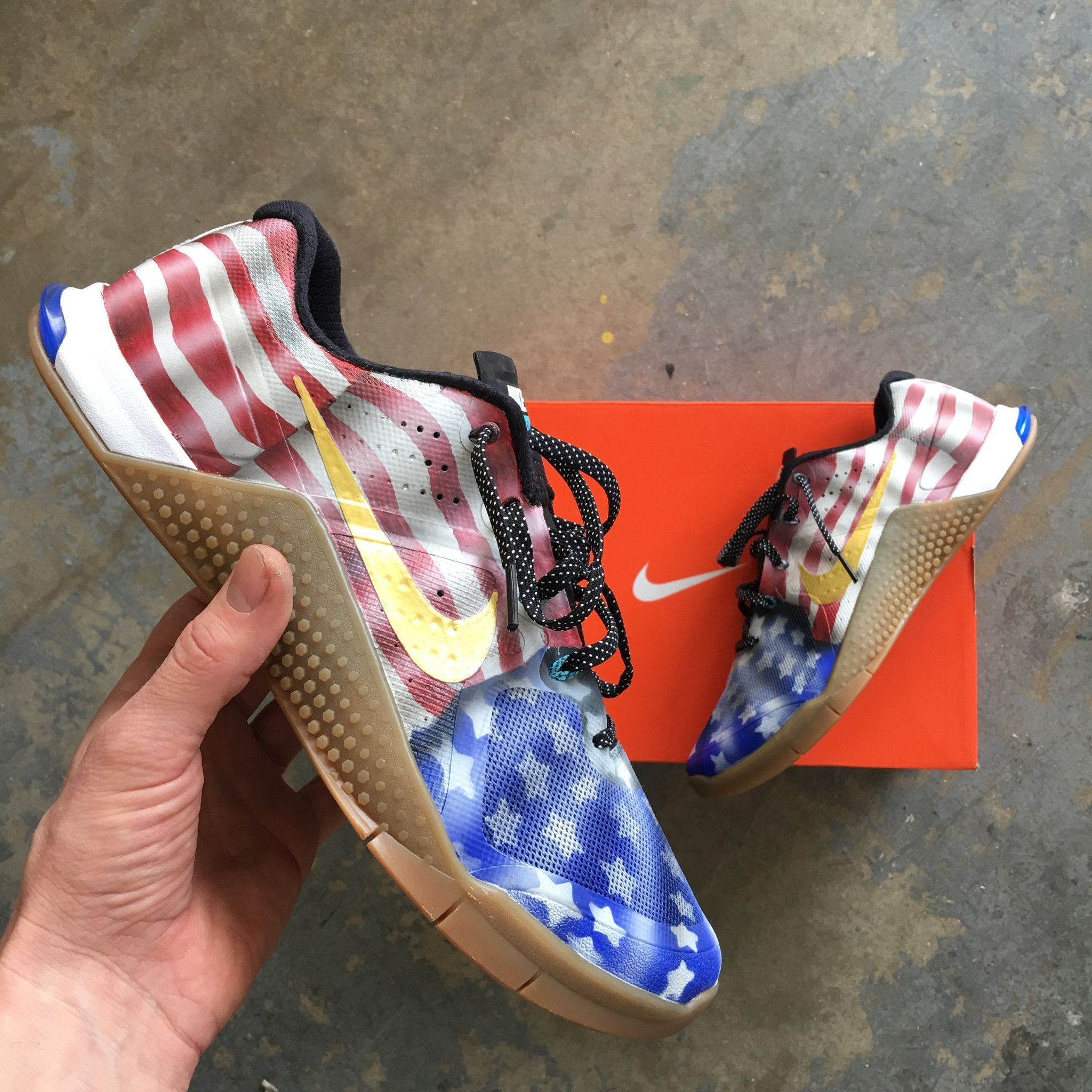 American Flag Nike Metcon 4 Trainers