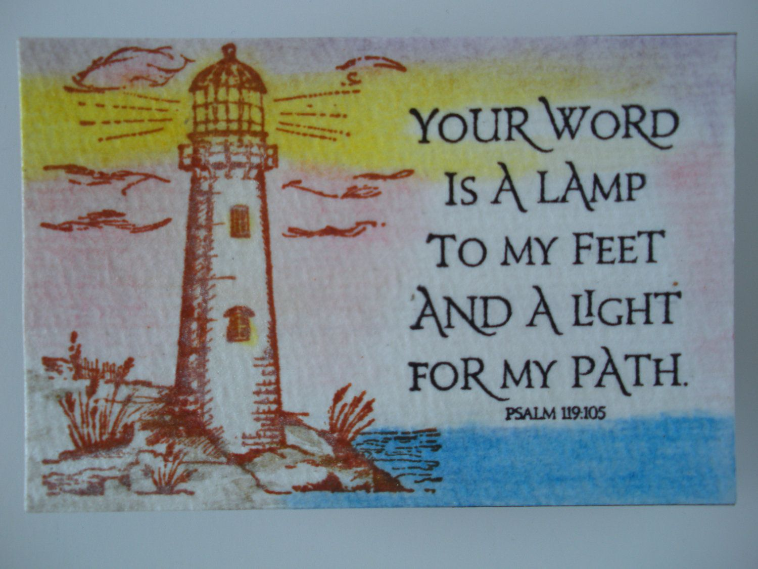 Christian Scripture Magnet. Your Word is a Lamp to my feet ...