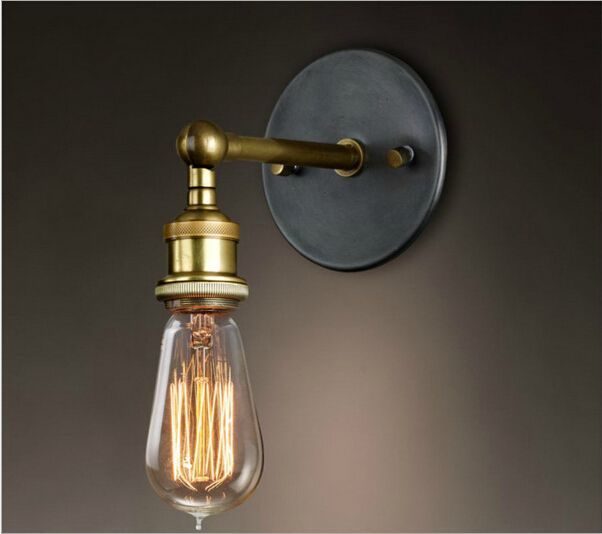 Free shipping american antique country edison wall Lamp lights/metal antique copper wall lamp/vintage brief wall lamp lights E27-in Wall Lamps from Lights & Lighting on Aliexpress.com   Alibaba Group