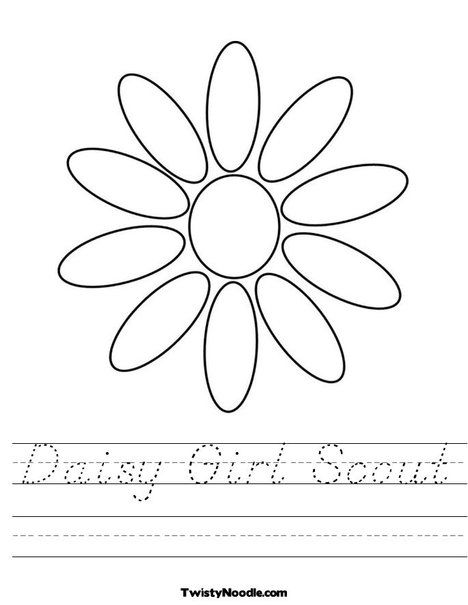 Worksheet | Girl Scouts | Pinterest | Moldes, Flores and Dibujos