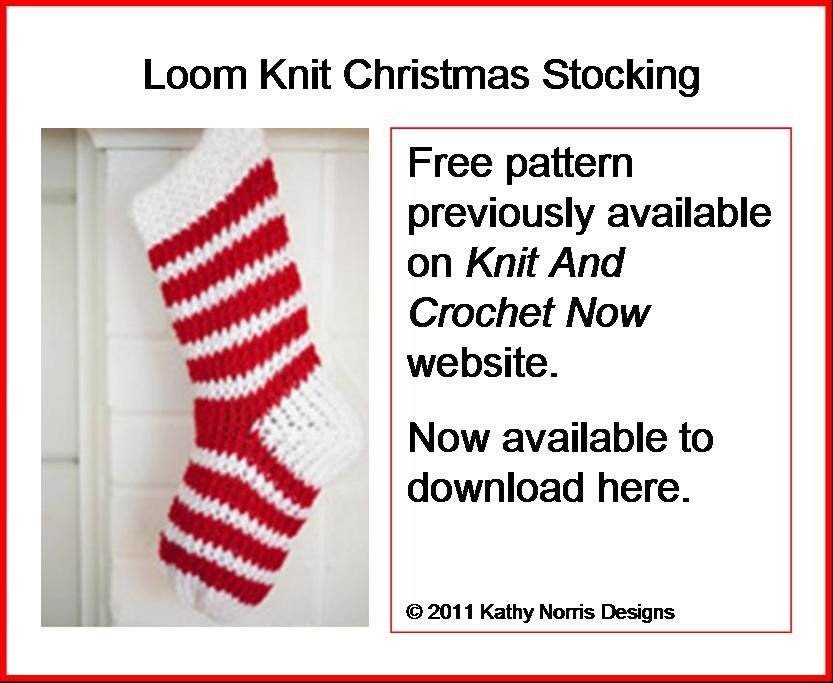 Kathy Norris Designs Loom Knit Christmas Stocking | crochet and knit ...