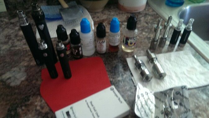 Trying to get the parents into vaping today........here's their starter kit