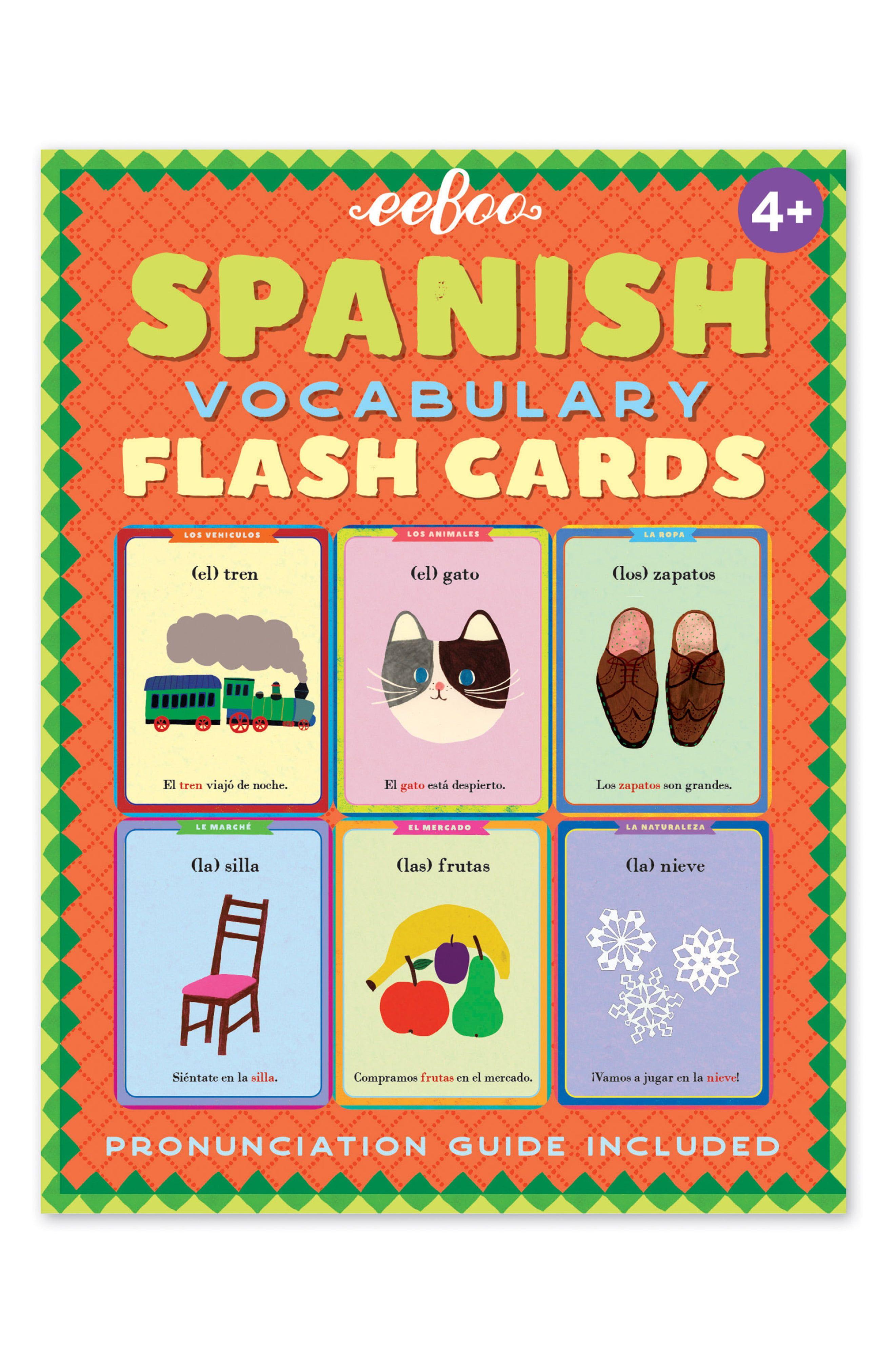 Eeboo Spanish Flash Cards Nordstrom In 2021 Vocabulary Flash Cards Flashcards Spanish Vocabulary