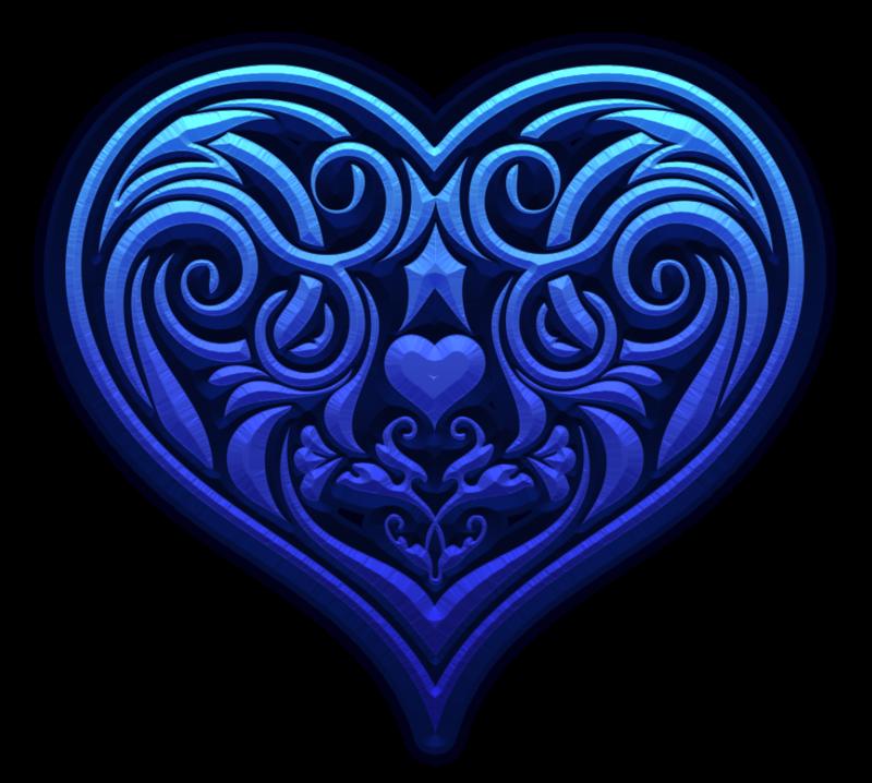 Heart081 Png Hearts Pinterest Corazones Azules Corazones And