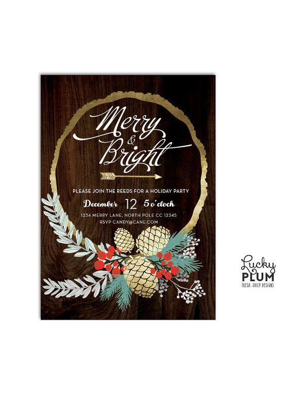 Holiday Party Invitation / Christmas Party Invitation / Christmas