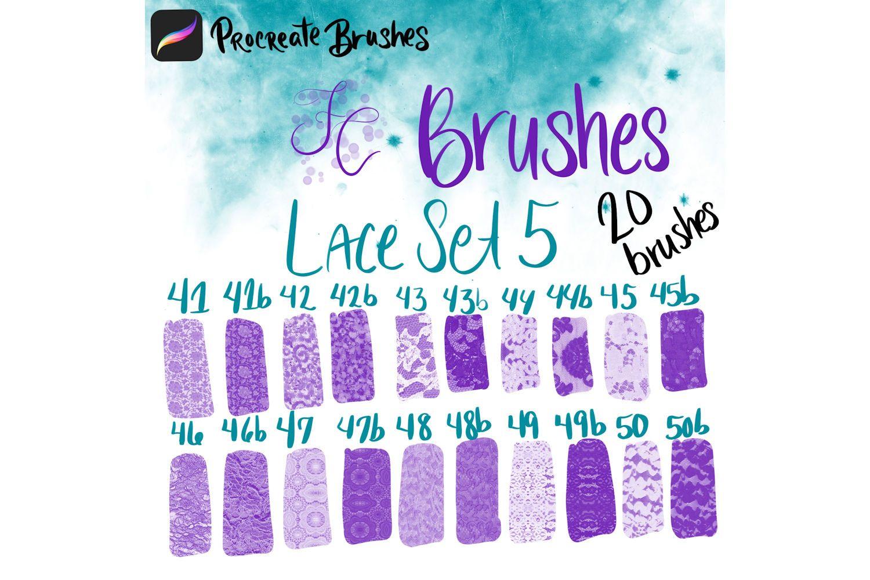 FC-Lace Brush Set 5 for PROCREATE | Procreate Design