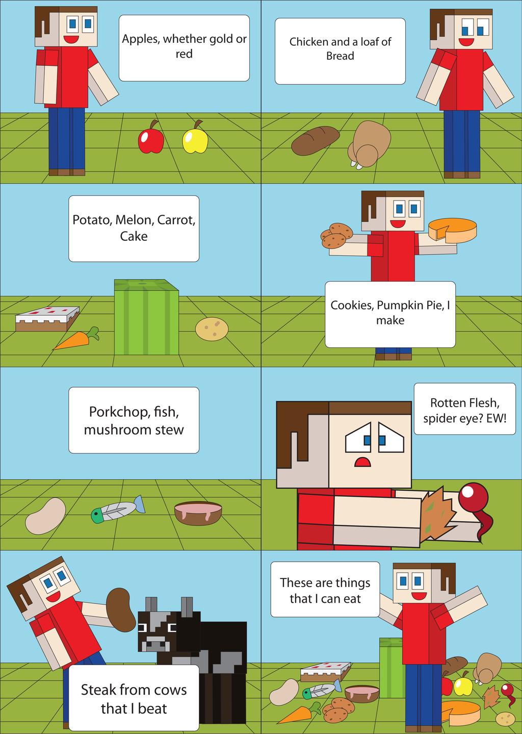 Things you can eat in Minecraft