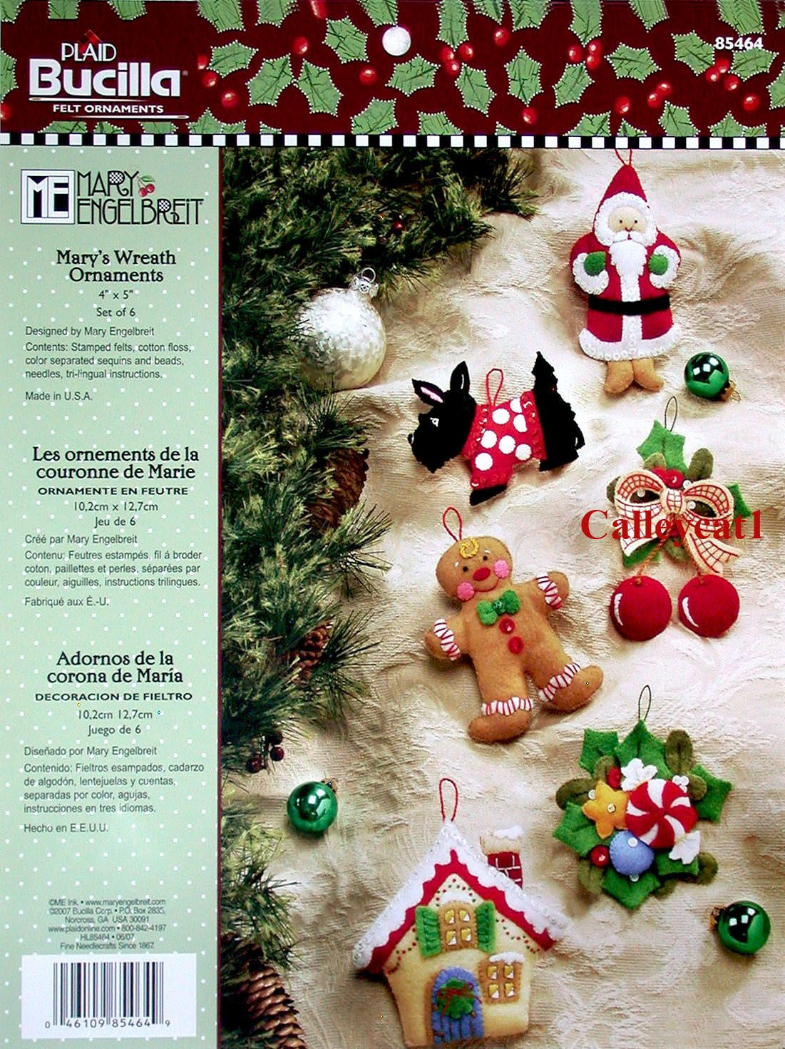 Mary S Wreath Bucilla Felt Ornament Kit 85464 Fth Studio International Felt Christmas Ornaments Felt Christmas Stockings Felt Christmas