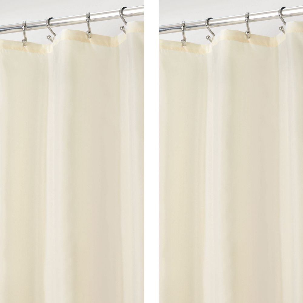 Water Repellent Fabric Shower Curtain Liner 108 X 72 Fabric
