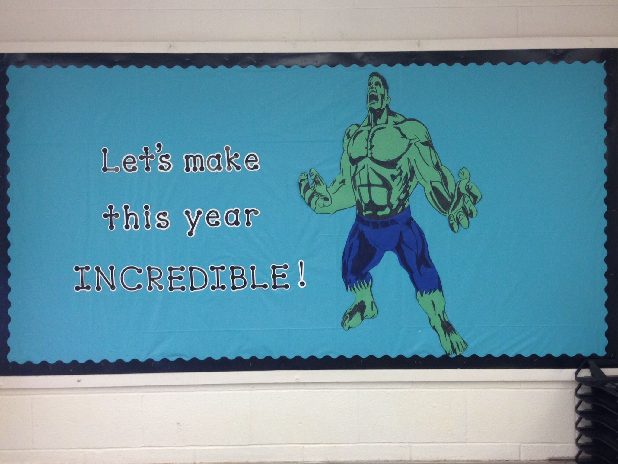 Incredible Hulk Bulletin Board Superhero Theme The Incredibles School Bulletin Boards