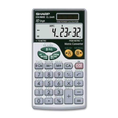 Sharp Electronics El344rb 10 Digit Calculator With Punctuation By Sharp 16 71 The Sharp El344rb 10 Digi Calculator Scientific Calculators Metric Conversions