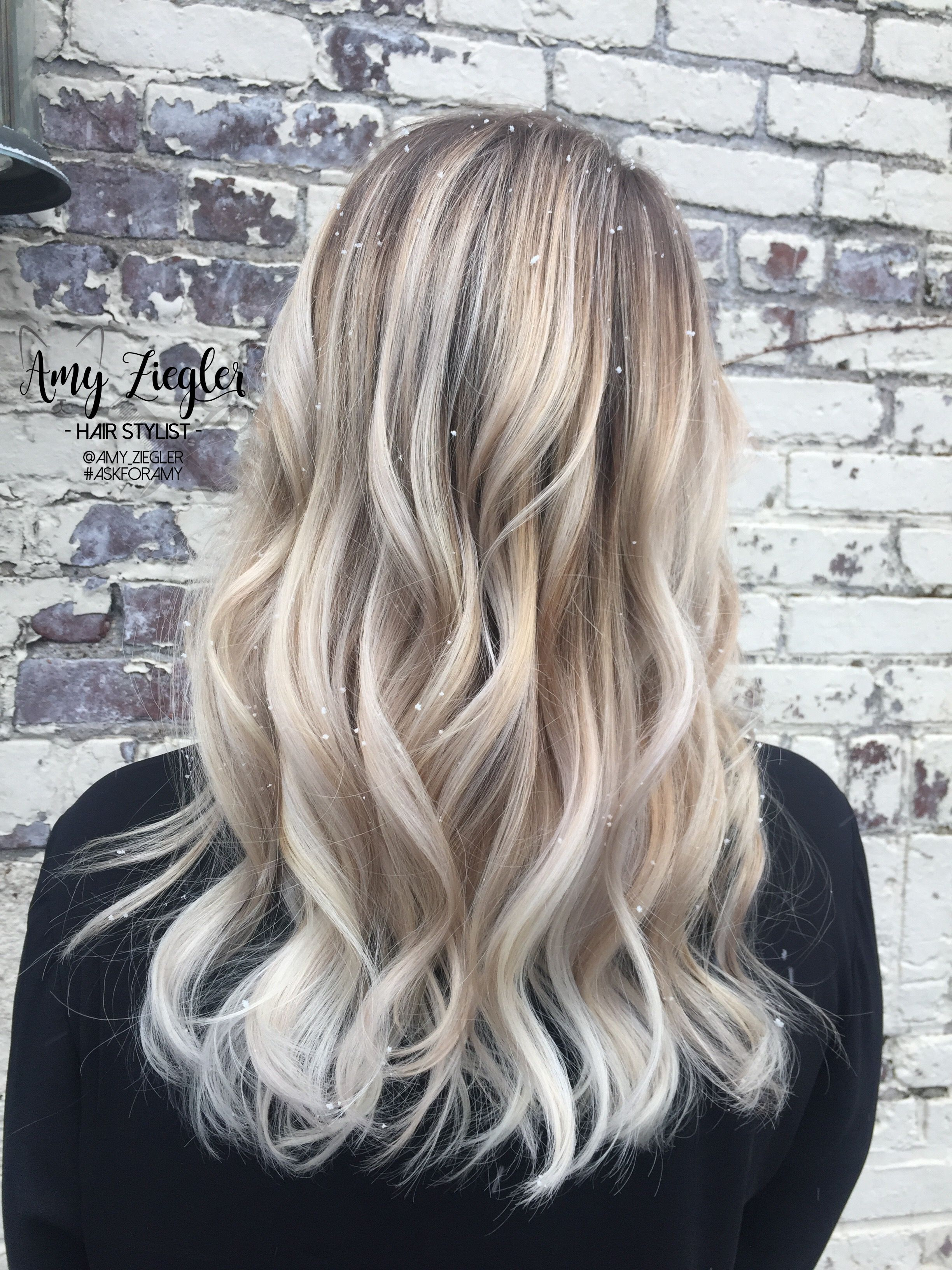 Snow White Blonde Platinum Balayage Ombre By Amy Ziegler