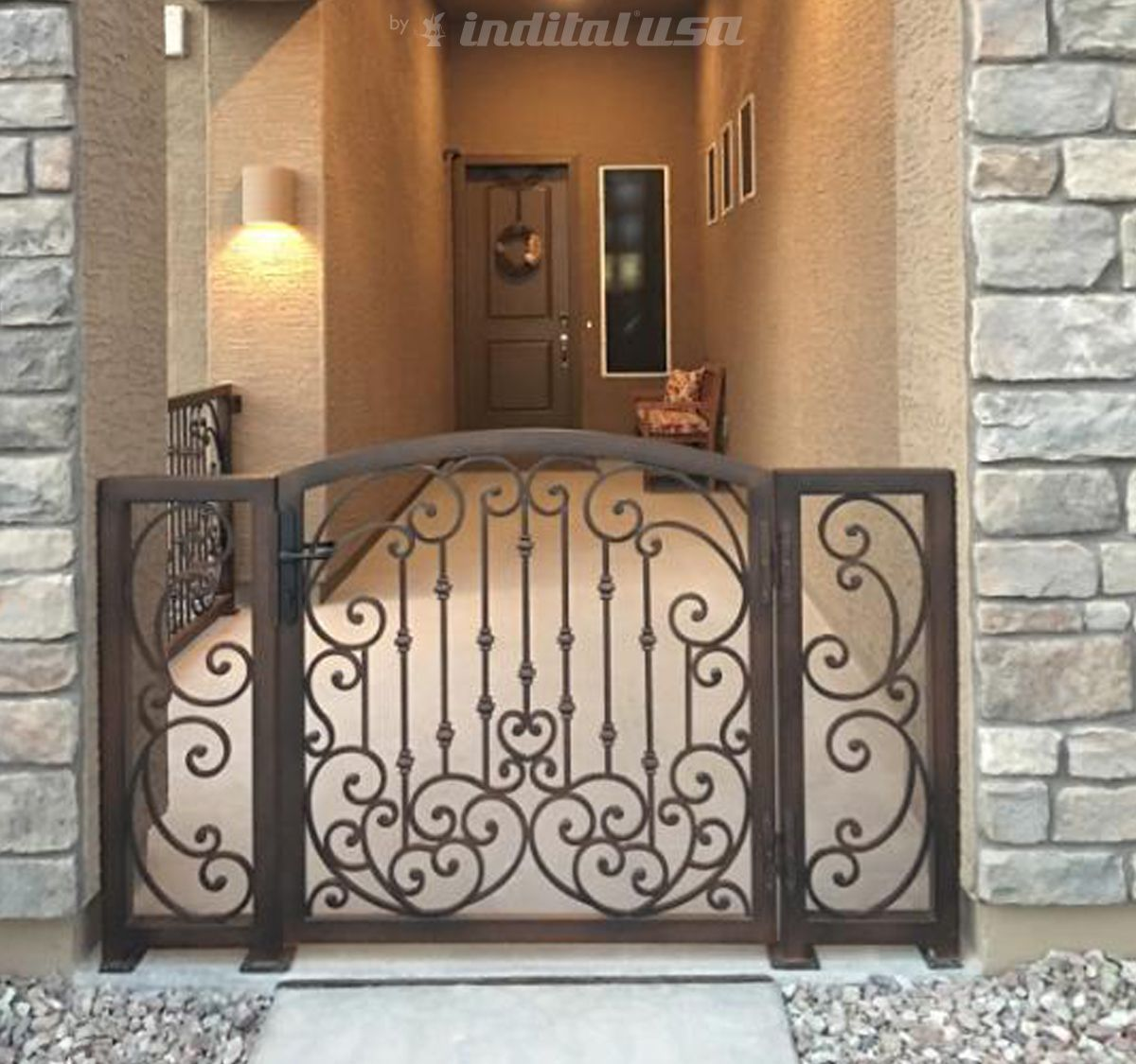 rod black porch wrought breathtaking chandeliers iron stairs step extraordinary with railings railing