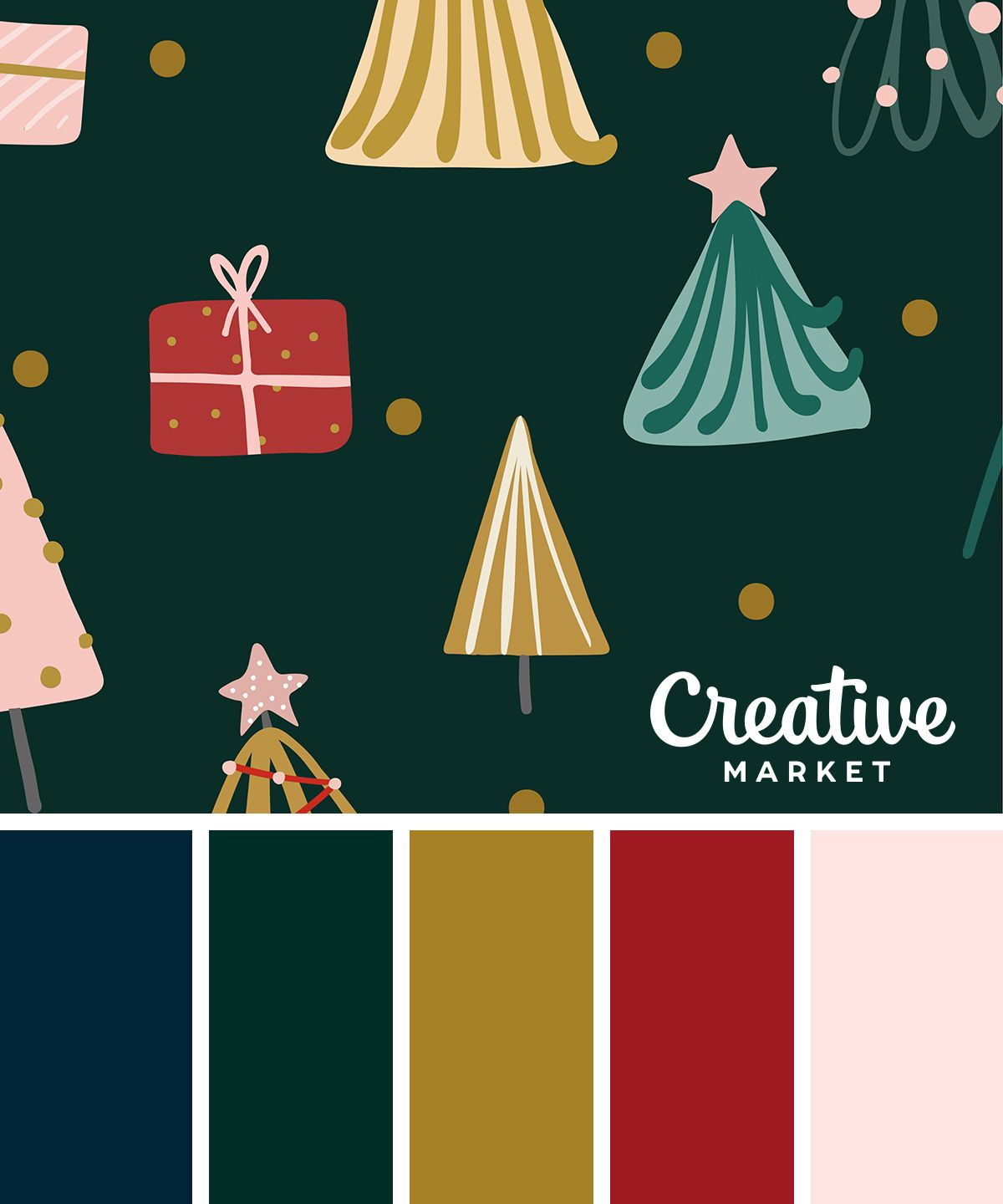 On the Creative Market Blog - Christmas Color Palettes: 8 Designers Share their Go-to Hues