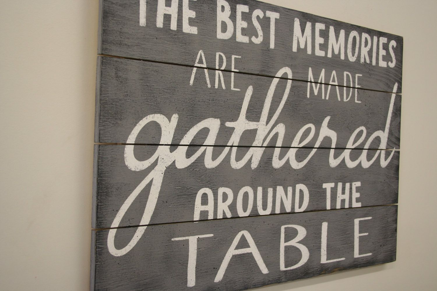 The Best Memories Are Made Gathered Around The Table Wood Kitchen Alluring Wall Art For A Dining Room Inspiration Design