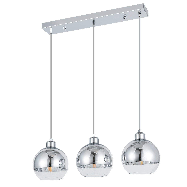 Amazon Com Shengqing 3 Light Mini Globe Pendant Light Modern Kitchen Isla Clear Glass Pendant Light Stainless Steel Pendant Light Modern Pendant Light Fixture