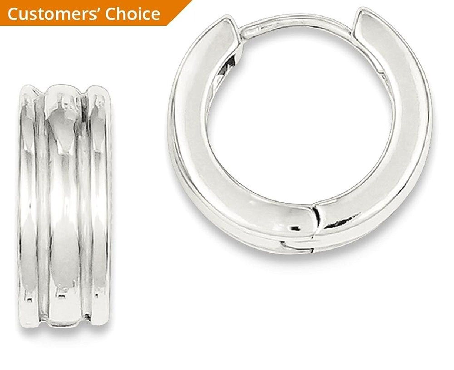 053008ad3 ICE CARATS 925 Sterling Silver Ridged Hoop Earrings Ear Hoops Set Fine  Jewelry Gift For Women