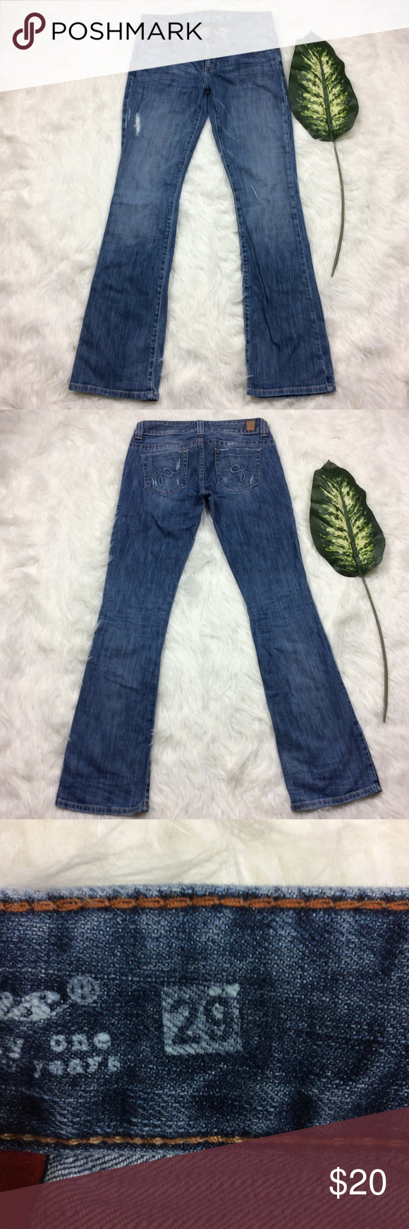 Guess Distressed Daredevil Bootcut Jeans size 29 Guess