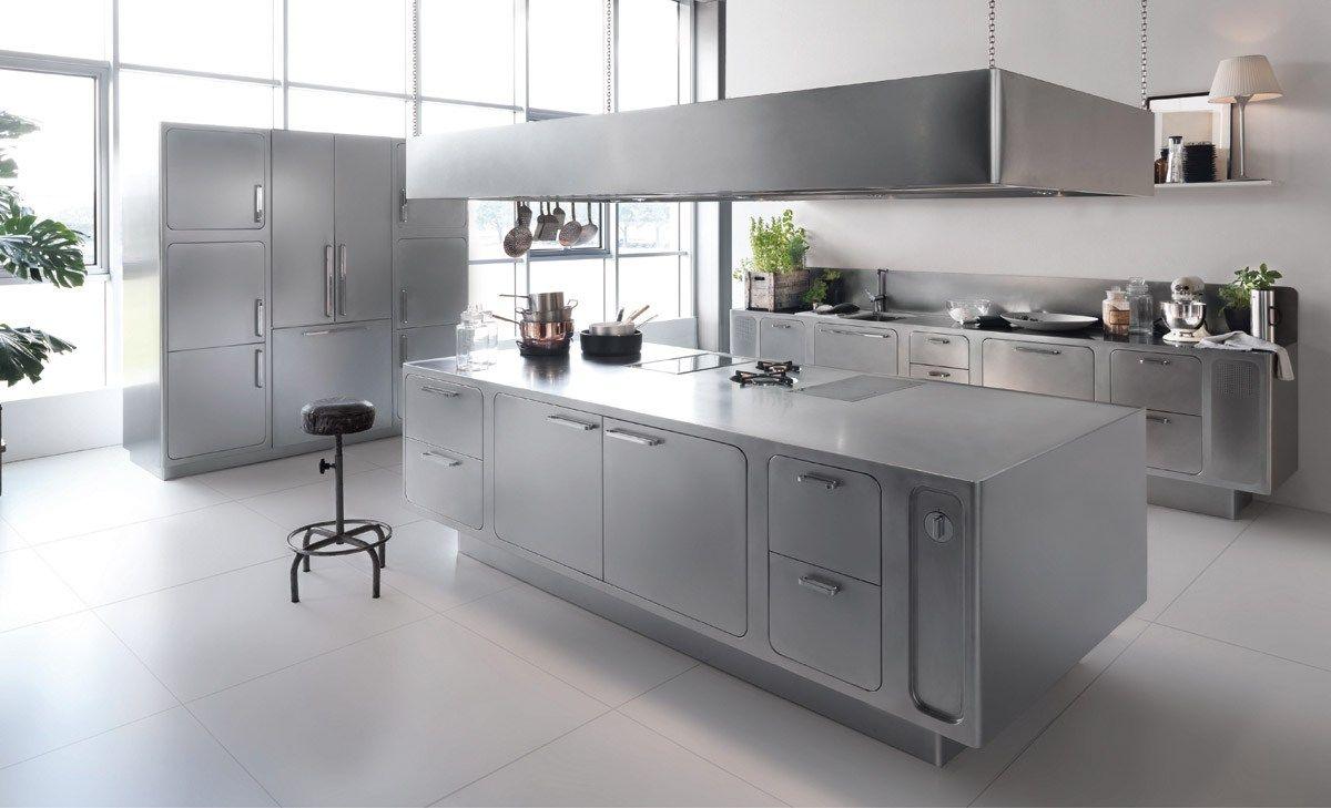 Design Edelstahl Kuchen : Küche aus edelstahl für gewerbe ego by abimis prisma design