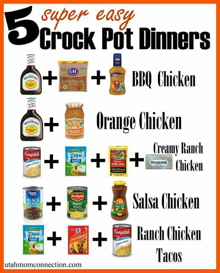 Easy Chicken Breast Recipes Crockpot: 5 Super Easy Crock Pot Dinners (With Images)