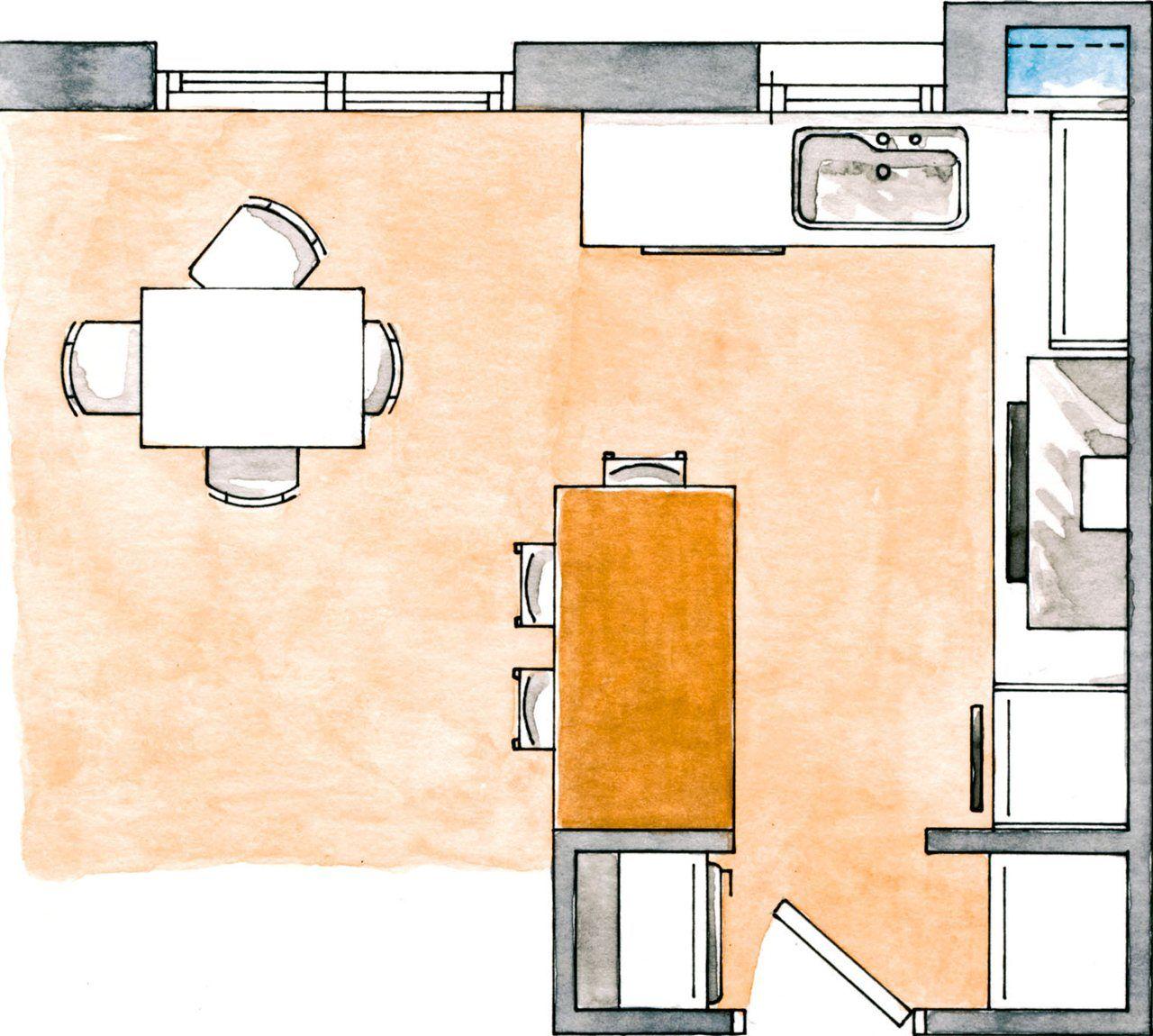 Buenas ideas para cocinas peque as cocina pinterest cocinas peque as cocinas y planos de - Planos cocinas pequenas ...