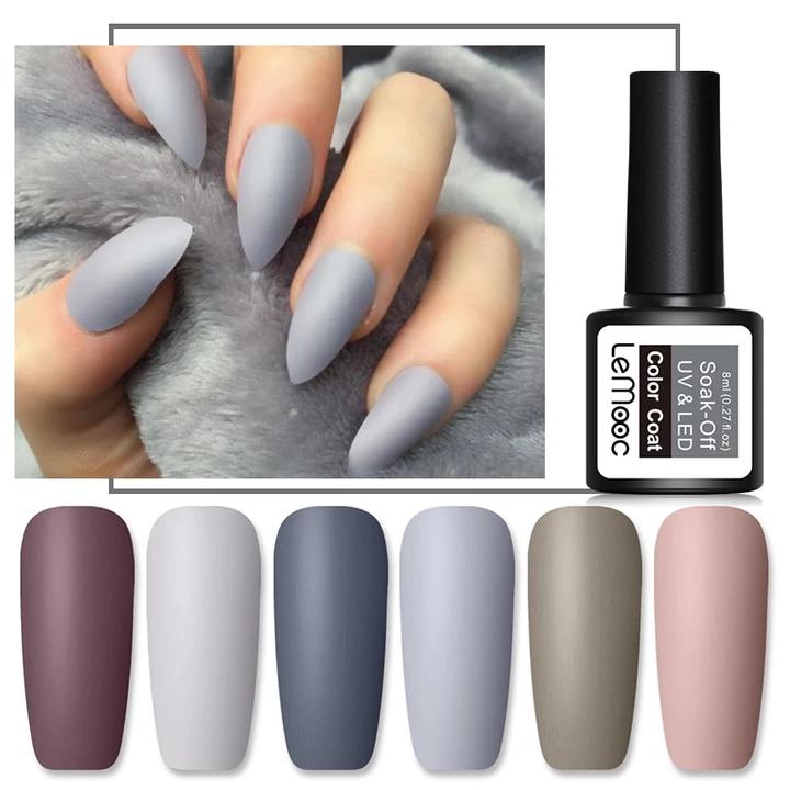 Matte Top Coat Color Uv Gel Nail Polish Millionsbag Uv Gel Nails Matte Gel Nails Nail Polish