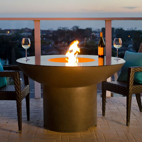Lotus Dining Fire Pit Table W Key