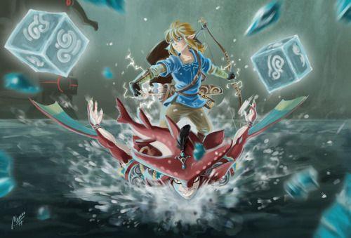 The Battle Against Vah Ruta Begins Legend Of Zelda Legend Of Zelda Breath Zelda Art