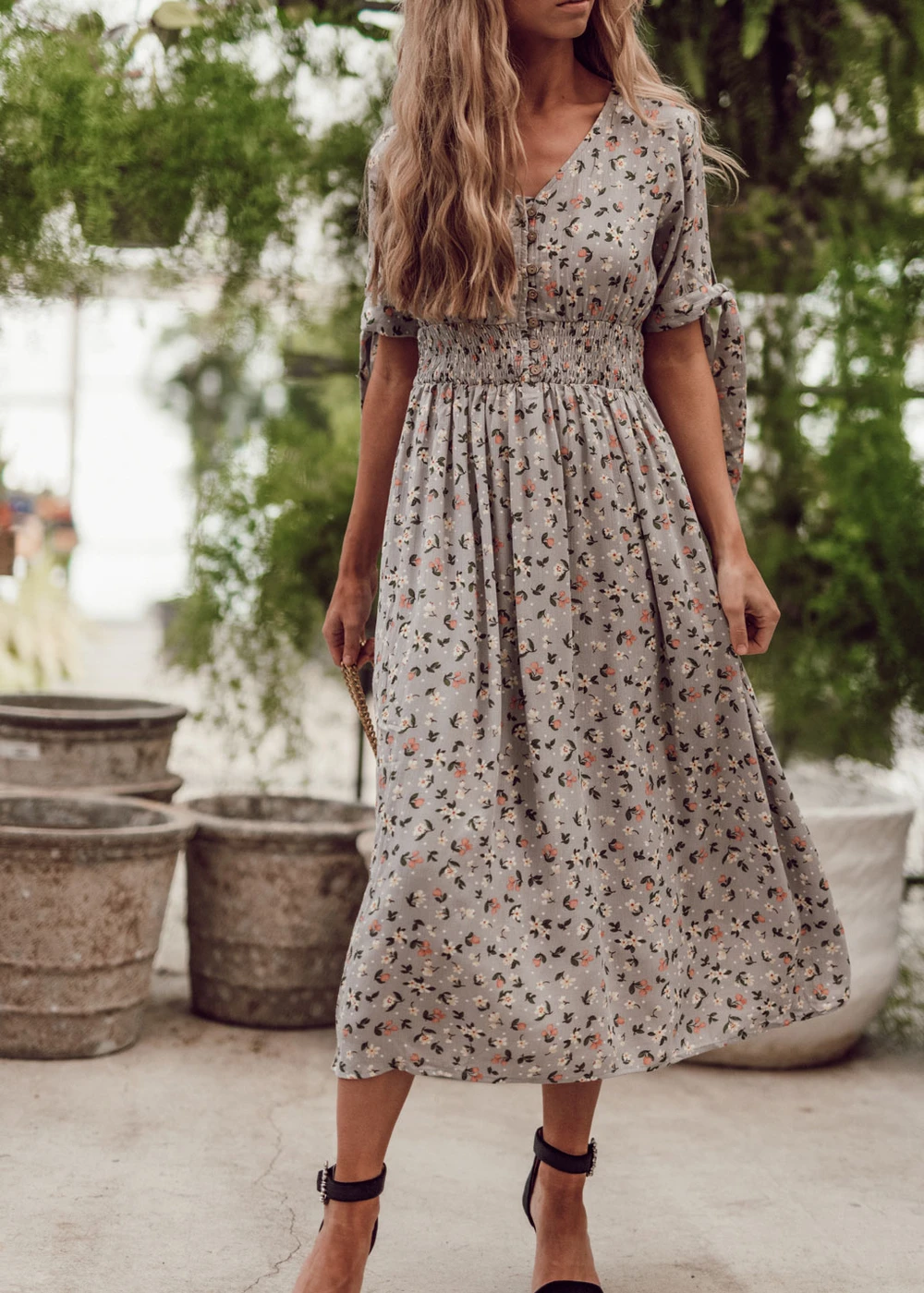 London Fog Floral Dress In 2020 Modest Dresses Yellow Party Dresses Printed Long Dresses