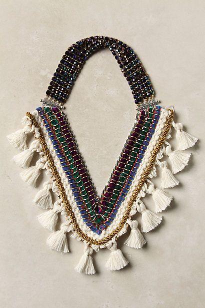Decorated Bib Necklace