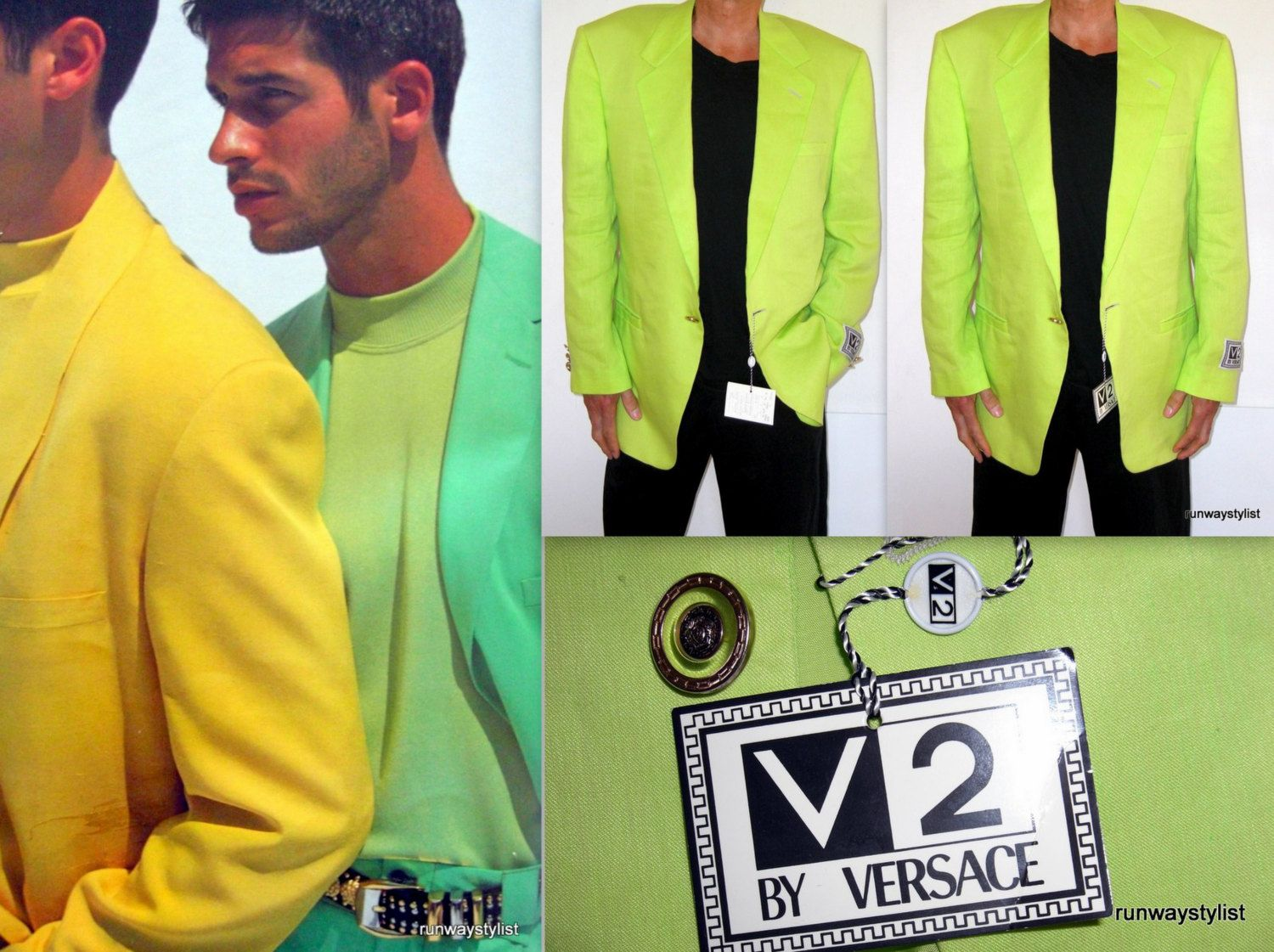 Gianni Versace For Versace V2 Medusa Head Electric Lime Green Men\'s ...