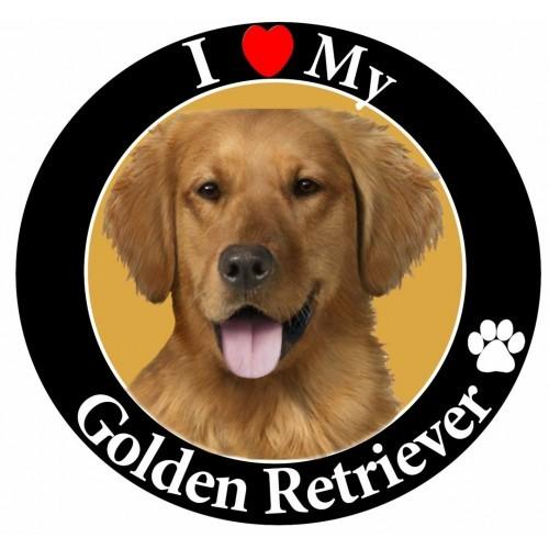 I Love My Golden Retriever Magnet Dog Memorial Dogs Golden