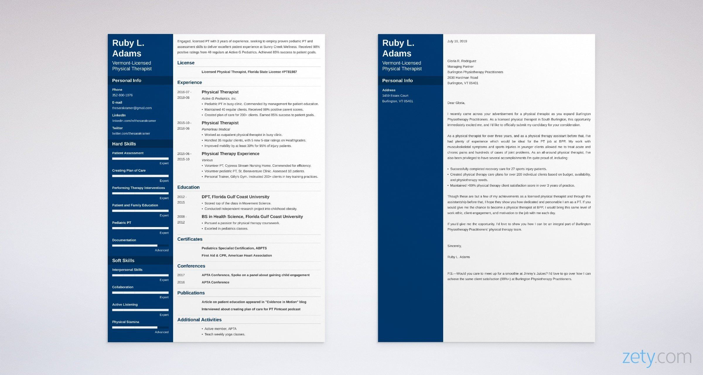 Physical Therapy Cover Letter Examples [20+ PT Job Tips ...