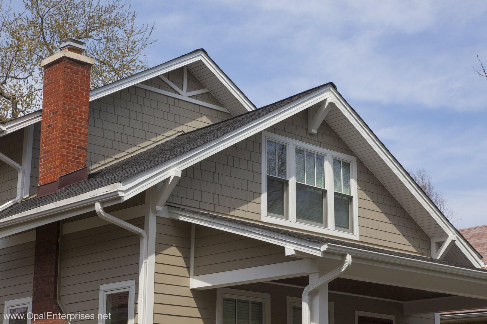 A Charming Upgrade Featuring James Hardie Siding In Monterey Taupe Shingle Accents With Images Exterior House Renovation Hardie Siding James Hardie Siding