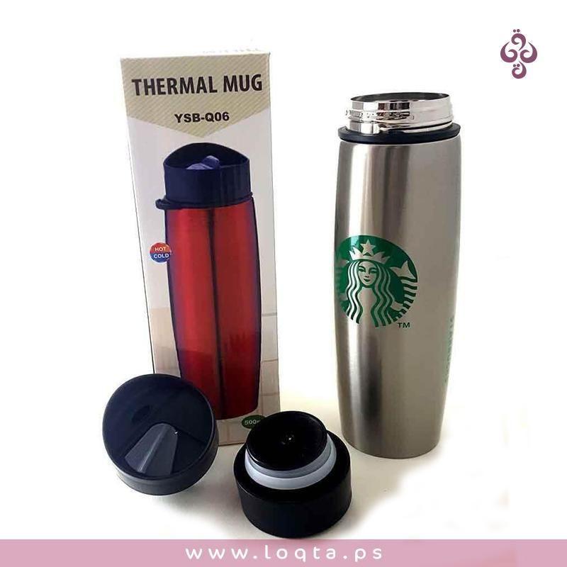 حافظة ستاربكس الحرارية ستانلس ستيل هاي كوبي للمشروبات الساخنة والباردة حافظة ستاربكس الحرارية ستانلس ستيل معالج للاستخدامات Water Bottle Thermal Mug Bottle