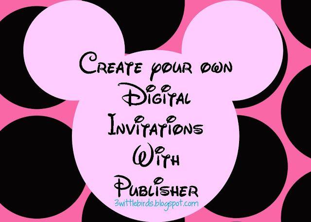 DIY Minnie Mouse Digital Invitations 3wittlebirds
