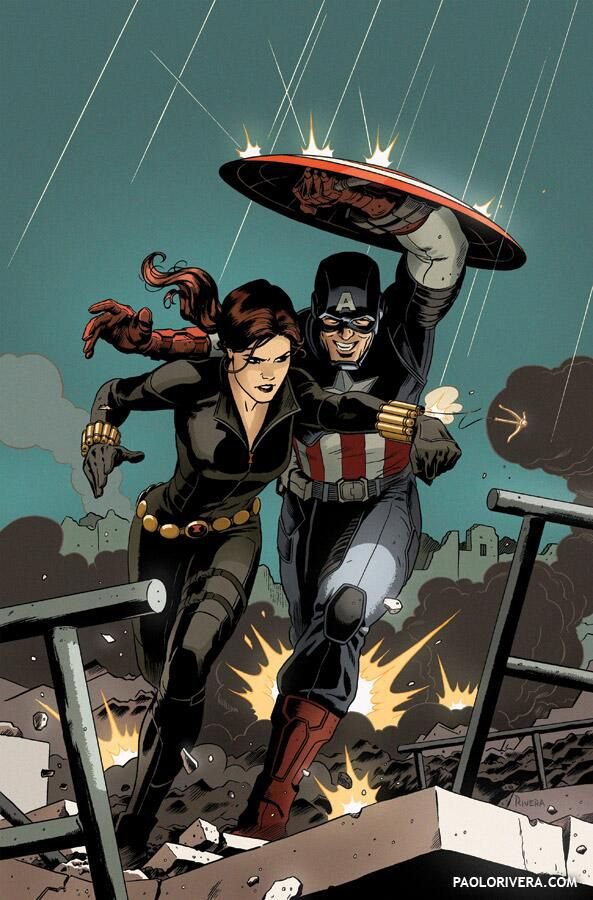 Black Widow And Captain America By Paolo Rivera See