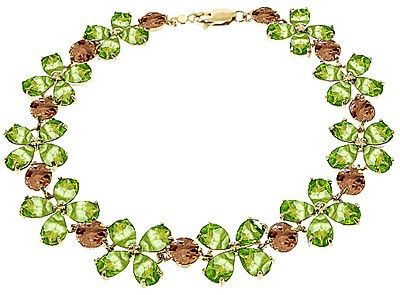 Wow! Very nice - 14K Gold Citrine & Peridot Blossom Bracelet - GJ1634Y | Gifted Jewelry #goldjewelry #women #covetme